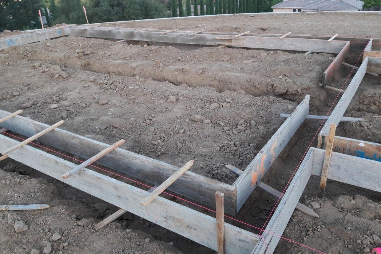 Custom home progress - pouring foundation