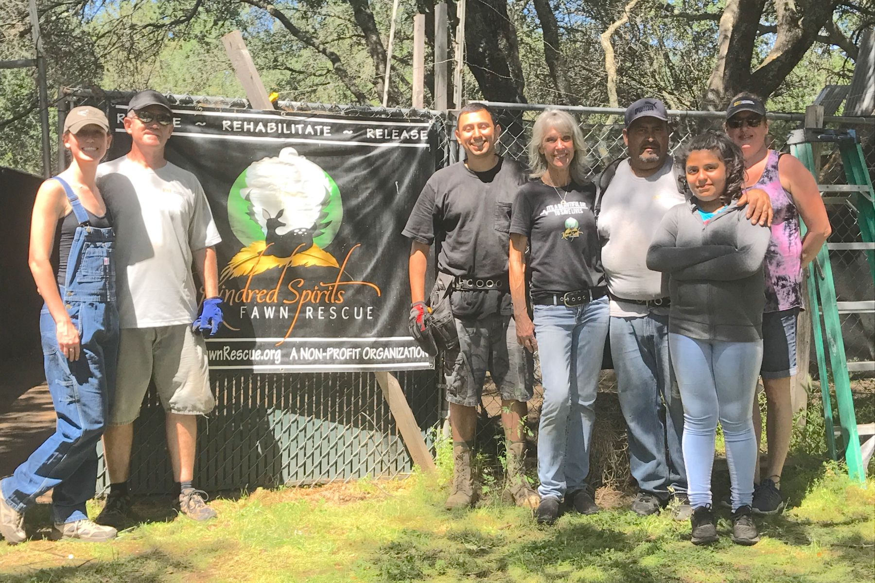 ESI Builders Team doing non-profit work at Kindred Spirits Fawn Rescue