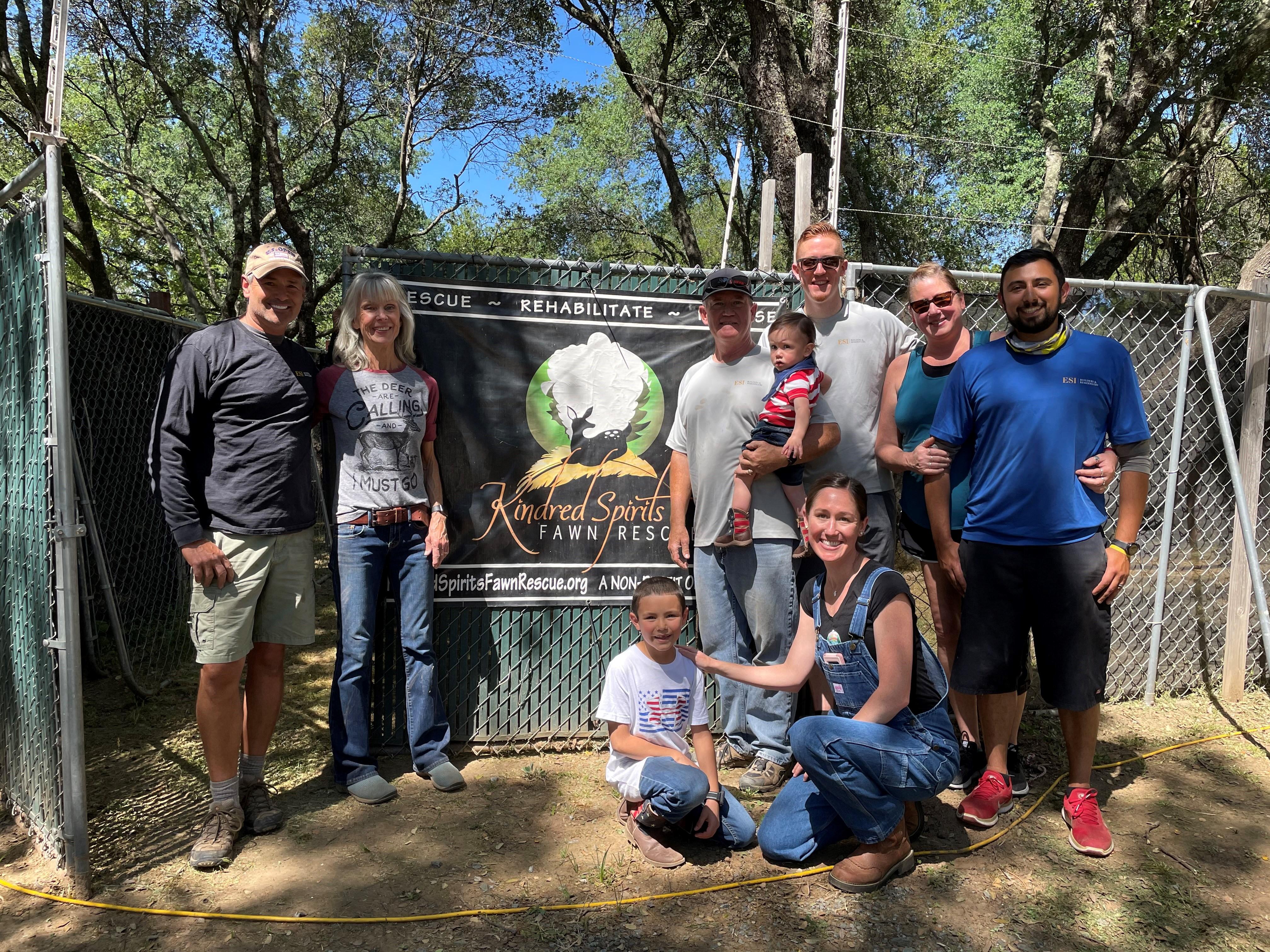 Team Volunteering at Kindred Spirits 2021